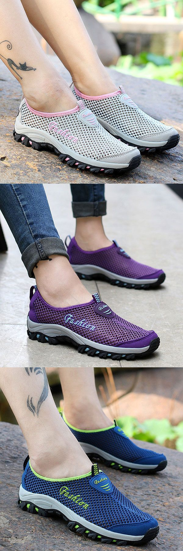 US$18.87  Big Size Quick Drying Outdoor Hiking Sport Casual Shoes For Women