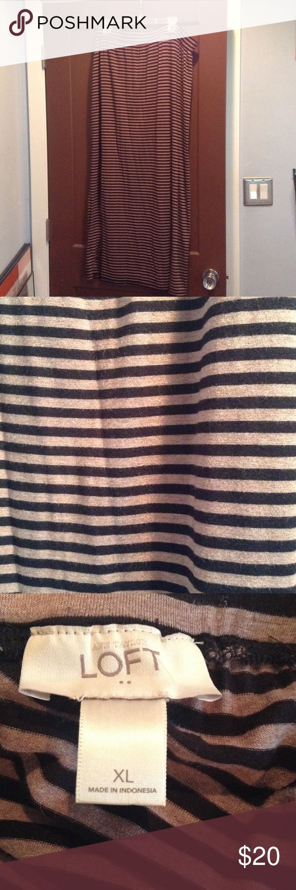 Black and Tan stripped Maxi Skirt For n maxi skirt from Ann Taylor Loft.  Only worn once. LOFT Skirts Maxi