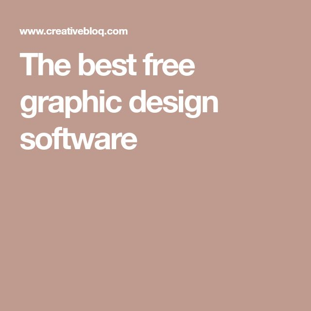 The best free graphic design software