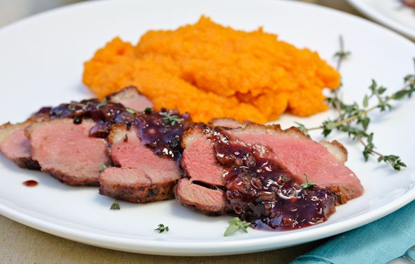 Pan+Seared+Duck+Breast+with+Savory+Blackberry+Sauce+via+@spicyperspectiv