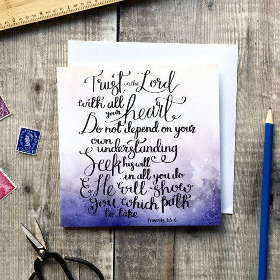 Trust In The Lord  Izzy & Pop Luxury Square Card  Christian