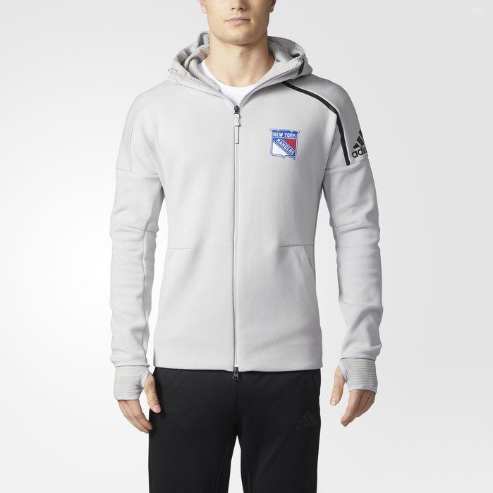 adidas Rangers adidas Z.N.E. Pulse Hoodie - Mens Hockey Hoodies & Sweatshirts