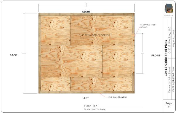 10x12 Gable Shed Plans Shed Shed Plans Studio Shed