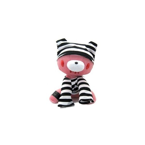 Gloomy Bear Prison Outfit Plush Doll ❤ liked on Polyvore featuring toys, plushies and stuffed animals