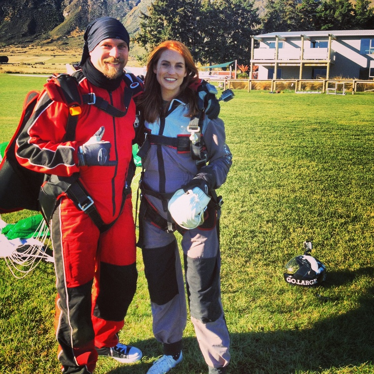 Sam Hayes After her First Skydive.