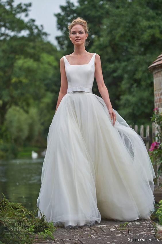 Best Square Wedding Dress Ideas On Pinterest Dress Necklines