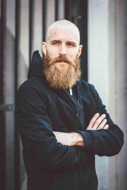 Bald and beards are a great combo! #beard #bald #hairloss #skalp