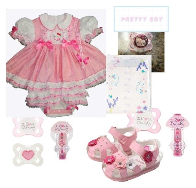 """Hello kitty sissy boy outfit abdl ddlb mdlb"" by nightiannavanguard on Polyvore"