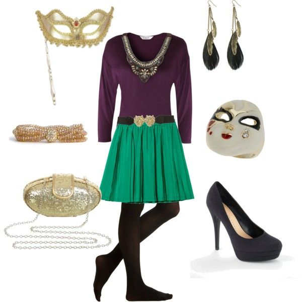 I'm likin' the Mardi Gras feel of this outfit