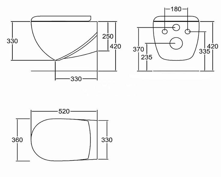 Hidra ABCl muszla wc podwieszana ABW 10 - WC, bidety, deski - wyposażenie wnętrz Max-Fliz