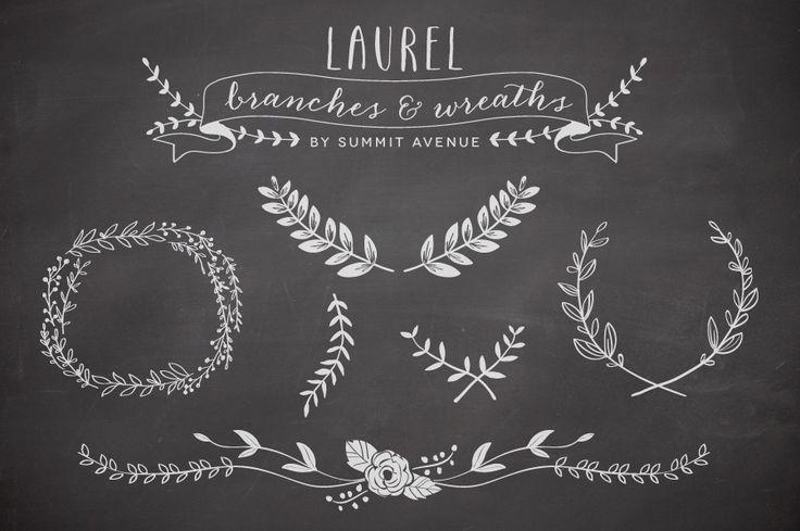 Vector Laurel & Wreath designs // Creative Market