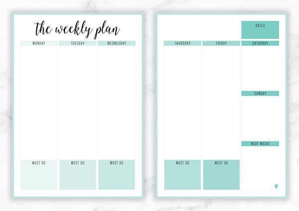 Free Printable Irma 'The Weekly Plan' Weekly Planner by Eliza Ellis - The perfect organizing solution for mums, entrepreneurs, bloggers, etsy sellers, professionals, WAHM's, SAHM's, students and moms. Available in 6 colors and both A4 and A5 sizes. Enjoy!