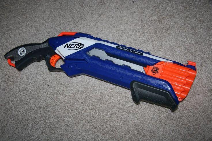 Nerf N-Strike Elite Rough Cut tactical blaster dart gun Shotgun Pump toy RARE #NERF   Blizzcon ...