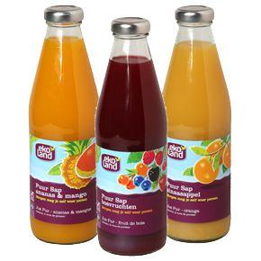 Biologische koude dranken van Ekoland Dit fruit kreeg de tijd om te rijpen en dat proef je.....