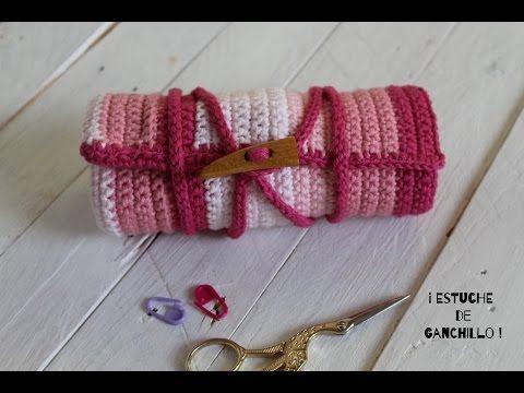 Estuche para tus Agujas de Ganchillo I Crochet case I ENGLISH SUB! cucaditasdesaluta - YouTube
