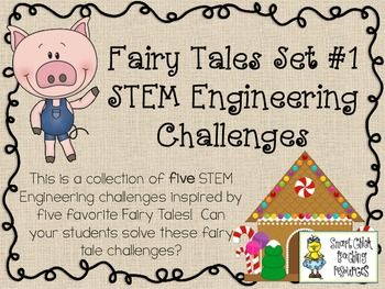 What teacher doesn't love fairy tales?As a STEM coordinator, I am always looking for creative ways for teachers to integrate STEM engineering and design challenges into their classroom activities.  I decided to work on creating STEM Engineering Challenge Packs for some well known (and loved) fairy tales.This STEM Challenge Pack is based on these fairy tales:- Three Little Pigs- Hansel and Gretel- Jack and the Beanstalk- Rapunzel- Three Billy Goats GruffThe engineering challenges in this STEM…