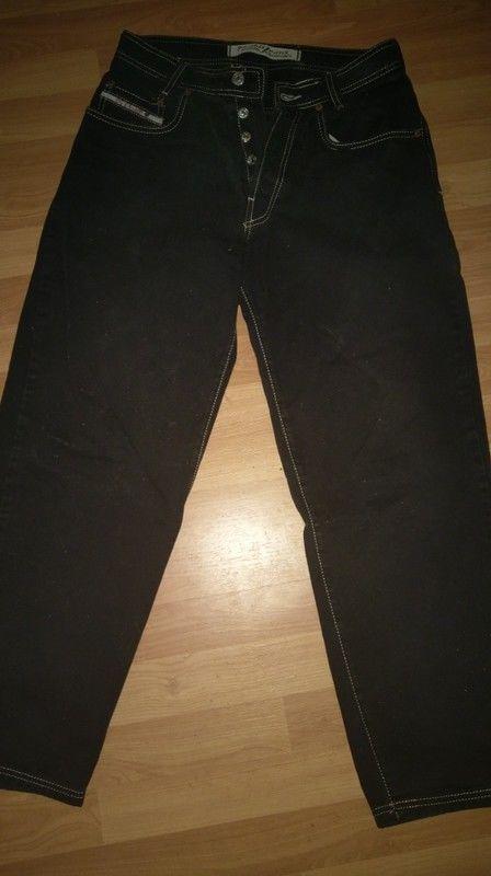 Picaldi Herren / Jungen Jeans Whiteline 2 Schwarz mit goldener Schrift W30 L30