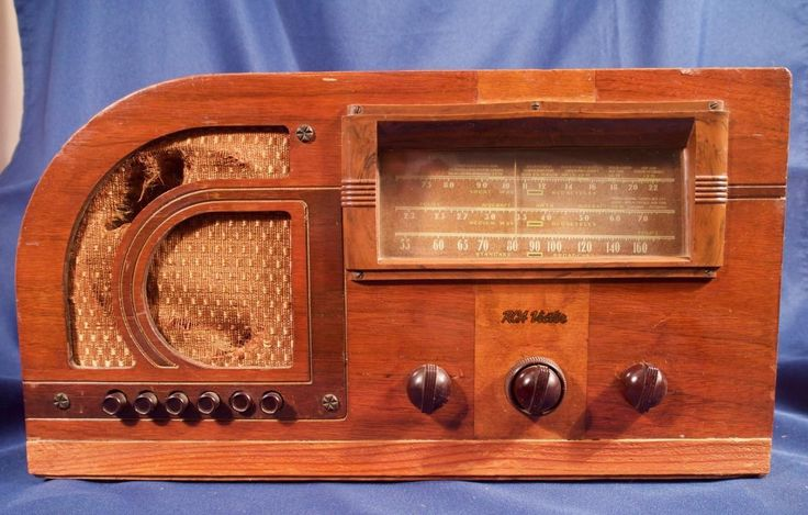 Vintage Wood Case RCA VICTOR Tube Radio Table Top | eBay