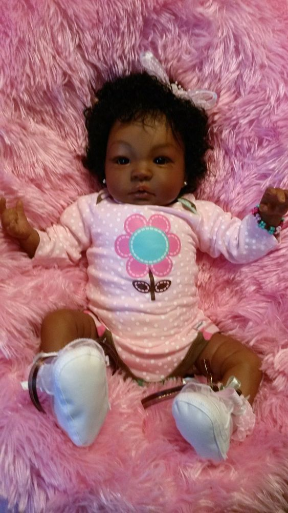 Reborn Baby Girl Biracial Ethnic Aa Grace Custom Orders