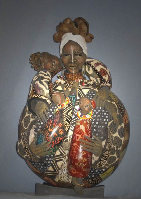 Love on display  Patricia C. Boyd.   Have you ever seen anything so beautiful?  http://www.gourdsculpture.com