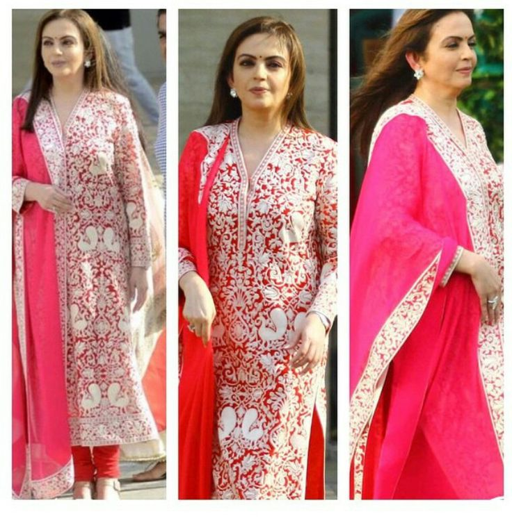 Nita Ambani wears a silk thread divine Peacock beautifully embroidered Kurta by Abu Jani Sandeep Khosla