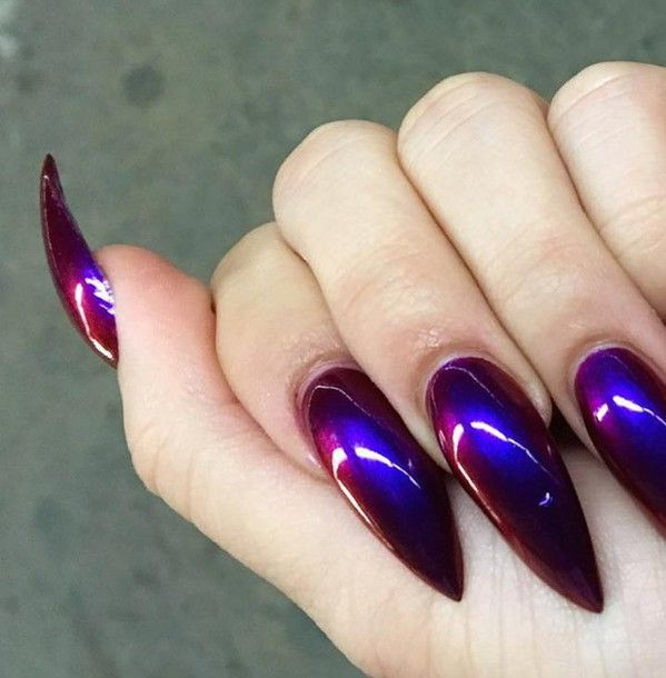 Nail polish: nails, nail art, cyber, soft ghetto, holographic ...
