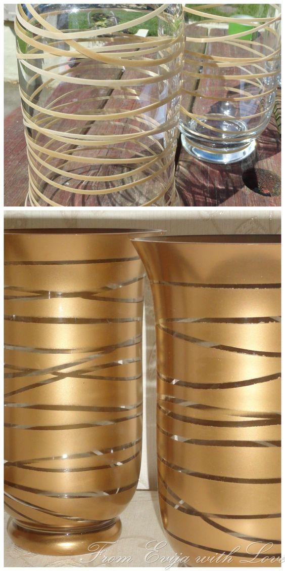 Transformez des vases avec des élastiques