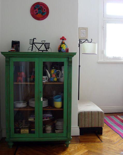 placard devenido en vitrina , me encantó el color