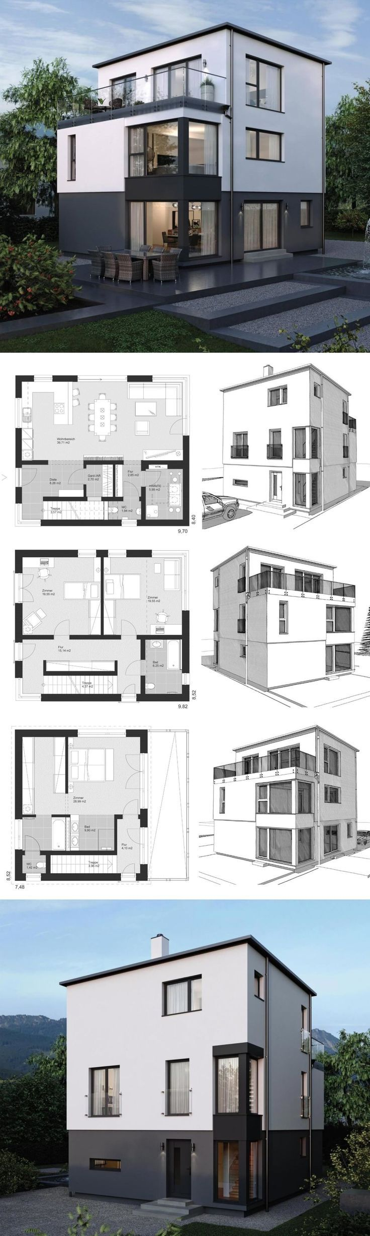 Modern Architecture Design House Plans ELK Haus 178 – Dream Home Ideas with Open…