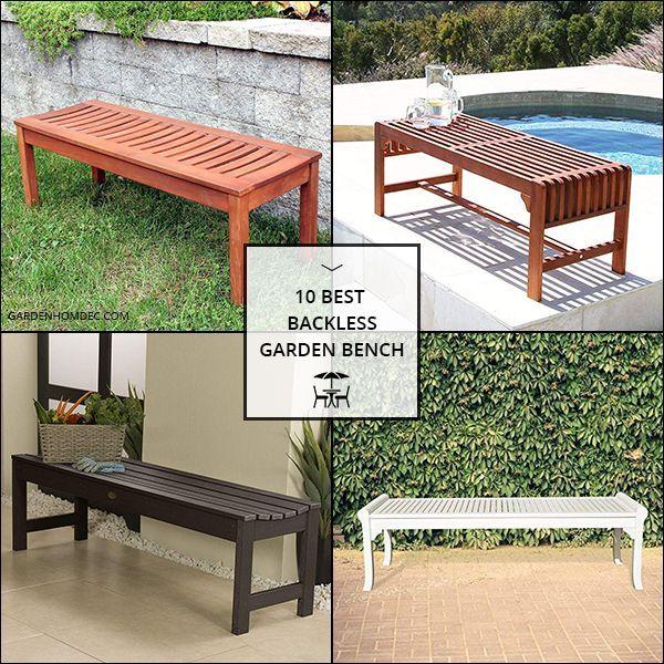 Top Rated Backless Garden Bench Garden Bench Bench Outdoor Decor