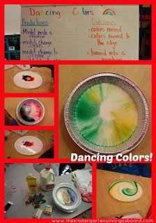 Dancing Colors hands-on science experiment!
