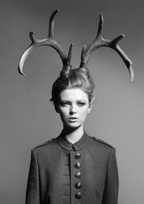 Horns: Holidays Parties, Horns, Halloween Costumes, Antlers, Bones, Photos Shoots, Photoshoot, Fashion Photography, Hair