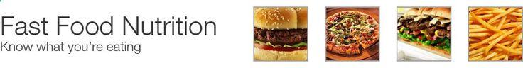Fast Food Nutrition