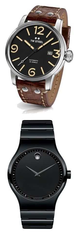 """""""Watches"""" by lefrenchbazaar on Polyvore featuring men's fashion, men's jewelry, men's watches, mens watches, mens watches jewelry, blue dial mens watches, tw steel men's watches, mens brown leather watches, black et movado mens watches"""