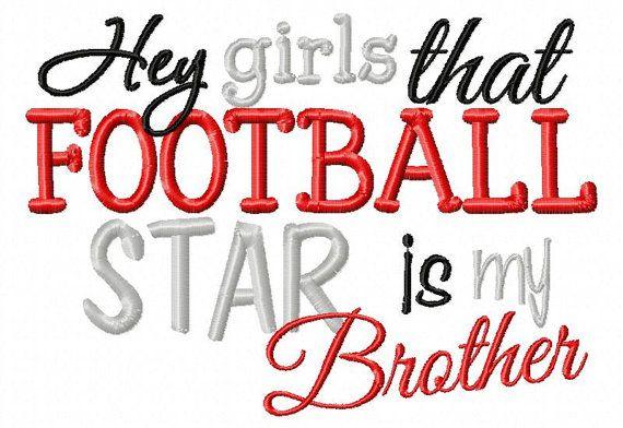 Custom Football Sister shirt Football Brother by JMehargDesigns