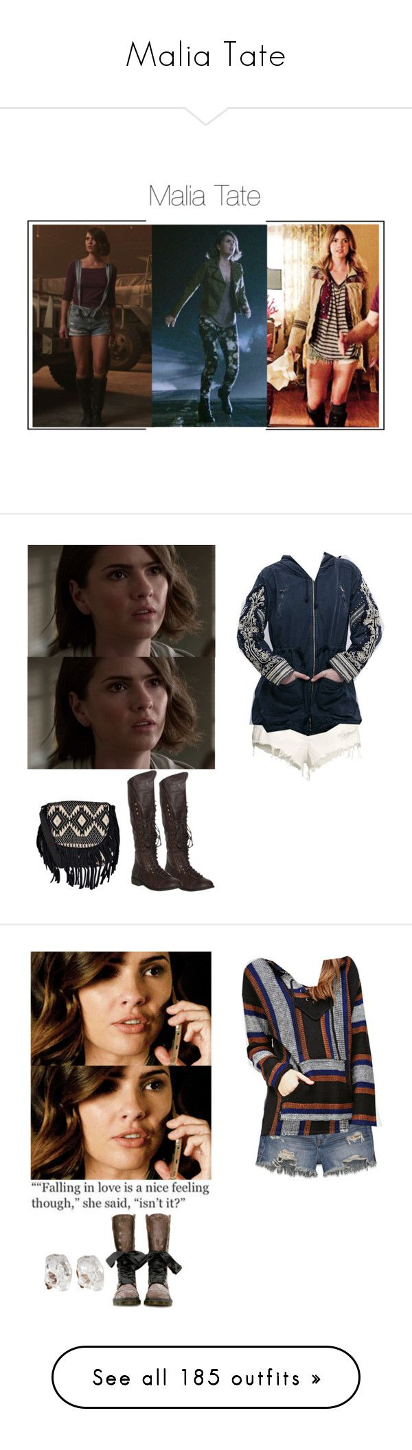 """""""Malia Tate"""" by shadyannon ❤ liked on Polyvore featuring Boohoo, H&M, Free People, Abercrombie & Fitch, Forever 21, Dr. Martens, Kate Spade, Rocket Dog, Miss Selfridge and Sun & Shadow"""