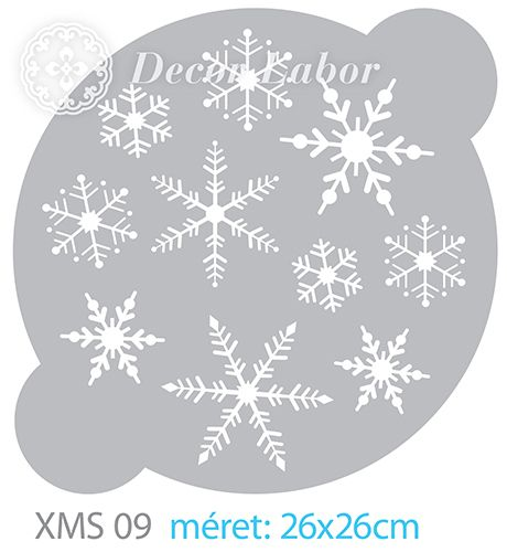 christmas stencil - snowflakes - karácsonyi stencilek - tortasablon http://decorlabor.hu/