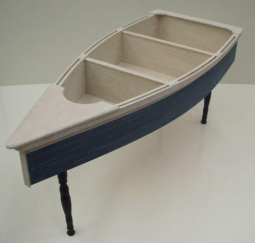 4 Foot Row Boat Nautical Coffee Table Skiff Schooner Canoe