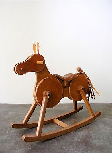 Leather Rocking Horse from CASA MIDY