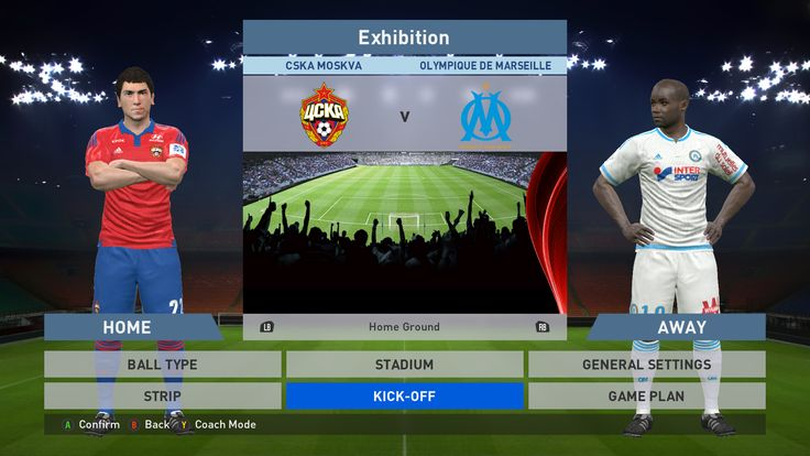 CSKA Moskva vs Olympique de Marseille, VEB Arena, PES 2016, PRO EVOLUTION SOCCER 2016, Konami, PC GAMEPLAY, PCGAMEPLAY