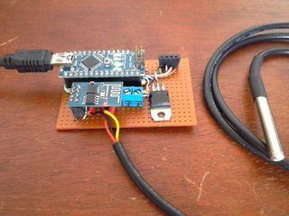 Test Web Server ESP8266 + Arduino + DS18B20 (OneWire)