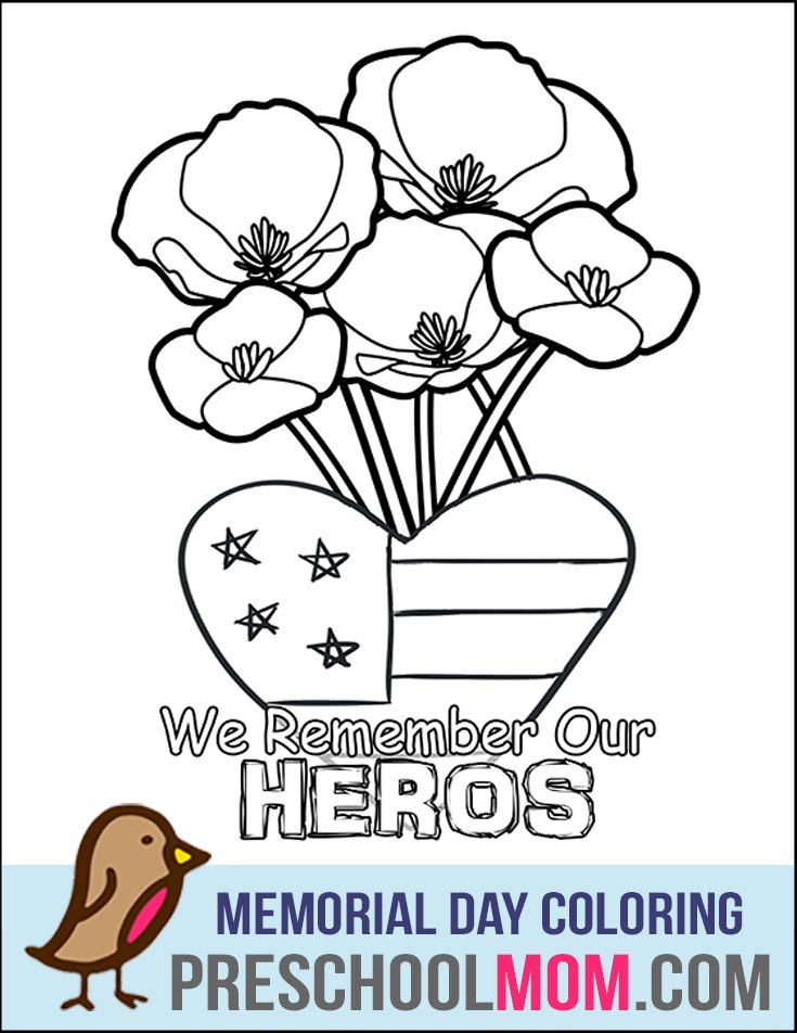 memorial day coloring pages for toddlers