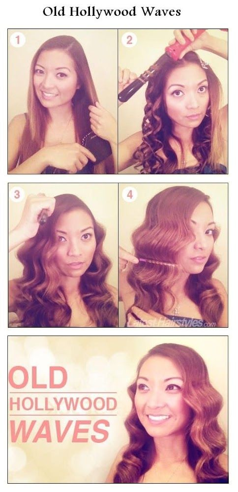 I need to try this! Perfect for a flapper or old school show girl. Make an Old Hollywood Waves For Your Hair   hairstyles tutorial