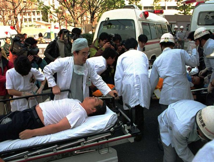 March 20,  1995: TOKYO SUBWAYS ARE ATTACKED WITH SARIN GAS  In Tokyo, 12 people are killed, and more than 5,500 others sickened as packages containing the deadly chemical sarin are leaked on five separate subway trains by Aum Shinrikyo cult members.