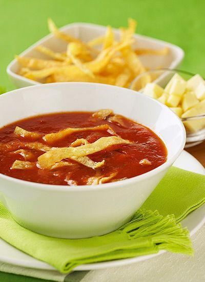 Receta: Sopa de tortilla mexicana