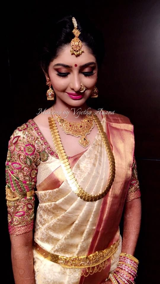 Our gorgeous bride Aishwarya looks ravishing for her muhurtam. Makeup and…