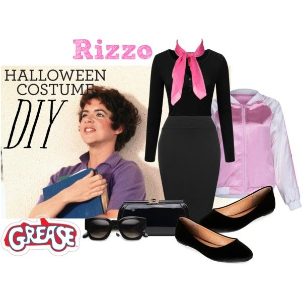 DIY Halloween Costume: Rizzo from Grease by empath-eye on Polyvore featuring Doublju, WearAll, Madden Girl, MKF Collection, ZeroUV, halloweencostume and DIYHalloween