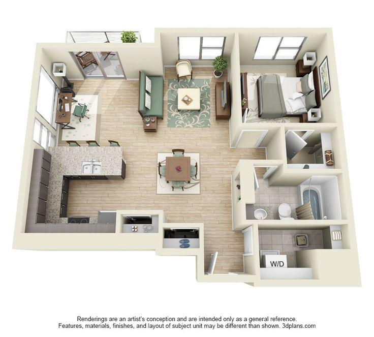 1 Floor Bedroom Apartments in Denver ~ NorthFortyCreative