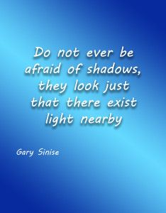 """The light is all that matters according to """"Gary Sinise"""""""