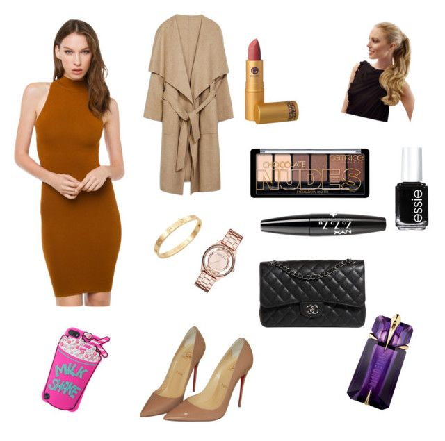 classy by kidoulini on Polyvore featuring polyvore, fashion, style, Akira Black Label, Chanel, Marc by Marc Jacobs, NYX, Essie, Christian Louboutin, Cachet, Lipstick Queen and Thierry Mugler